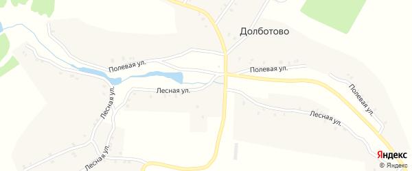 Лесная улица на карте поселка Дятлова с номерами домов