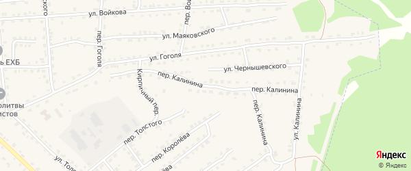 Переулок Калинина на карте поселка Клетня с номерами домов