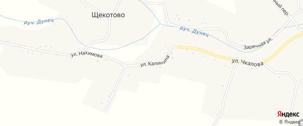 Улица Калинина на карте села Котляково с номерами домов