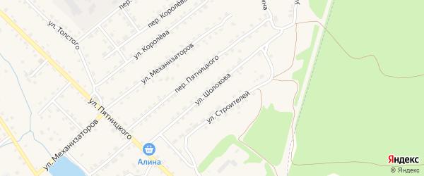 Улица Шолохова на карте поселка Клетня с номерами домов