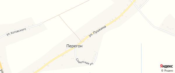 Улица Пушкина на карте деревни Перегона с номерами домов