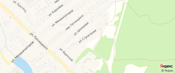Улица Строителей на карте поселка Клетня с номерами домов