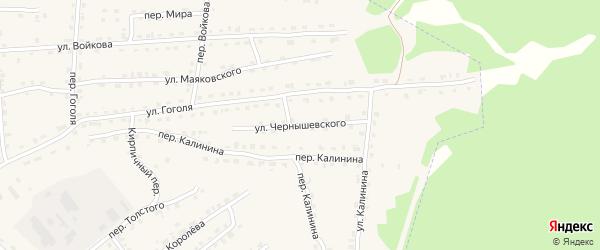 Улица Чернышевского на карте поселка Клетня с номерами домов