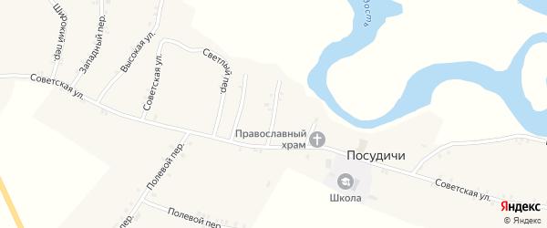 Речной переулок на карте села Посудичи с номерами домов