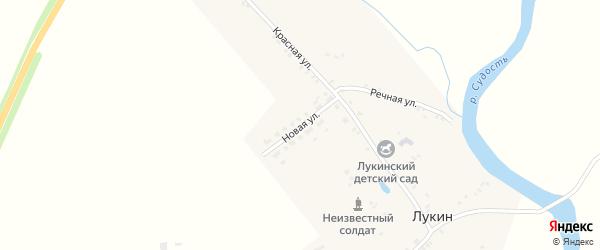 Новая улица на карте деревни Лукина с номерами домов