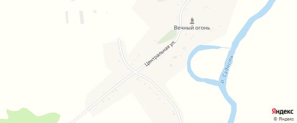 Центральная улица на карте деревни Лукина с номерами домов