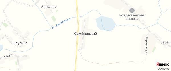 Карта Семеновского поселка в Брянской области с улицами и номерами домов