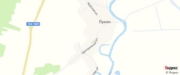 Карта деревни Лукина в Брянской области с улицами и номерами домов
