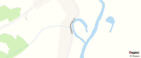 Набережная улица на карте деревни Лукина с номерами домов