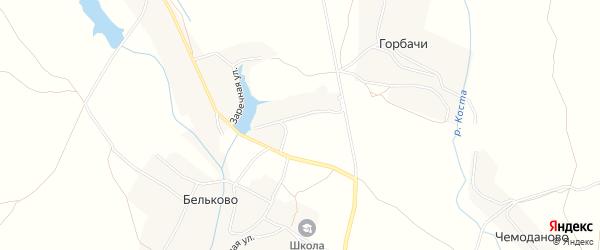 Карта села Бельково в Брянской области с улицами и номерами домов