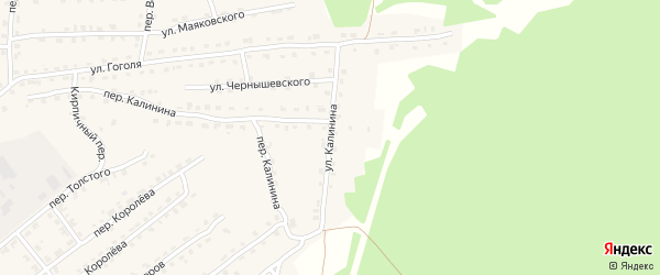 Улица Калинина на карте поселка Клетня с номерами домов
