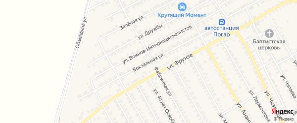 Вокзальная улица на карте поселка Погара с номерами домов
