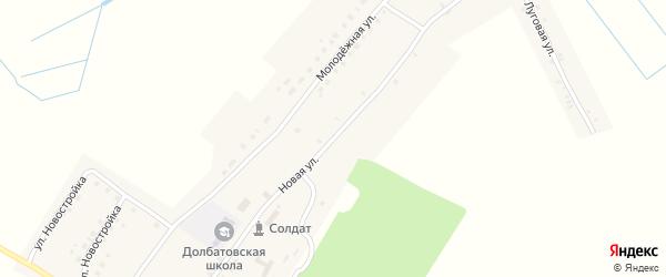 Новая улица на карте деревни Долботово с номерами домов