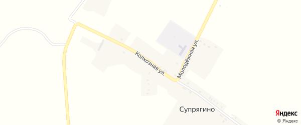 Колхозная улица на карте села Супрягино с номерами домов