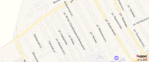 Улица 40 лет освобождения Брянщины на карте поселка Погара с номерами домов