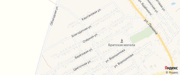 Озерная улица на карте поселка Погара с номерами домов