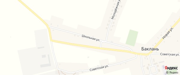 Школьная улица на карте села Баклани с номерами домов