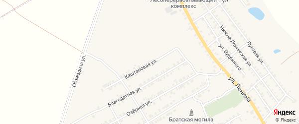 Каштановая улица на карте поселка Погара с номерами домов