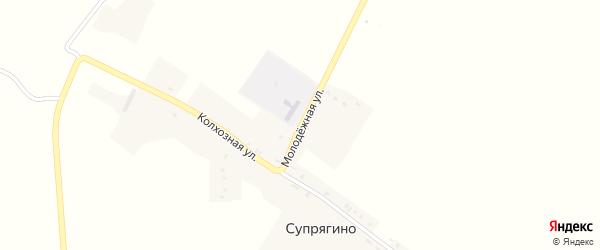 Молодежная улица на карте села Супрягино с номерами домов