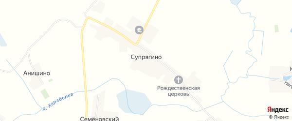 Карта села Супрягино в Брянской области с улицами и номерами домов