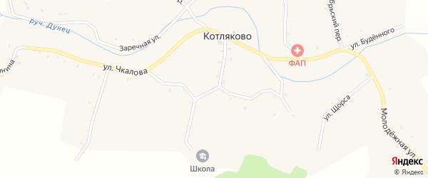 Улица Гагарина на карте села Котляково с номерами домов