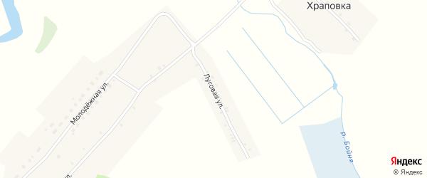 Луговая улица на карте деревни Храповки с номерами домов