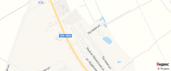 Луговой переулок на карте поселка Погара с номерами домов