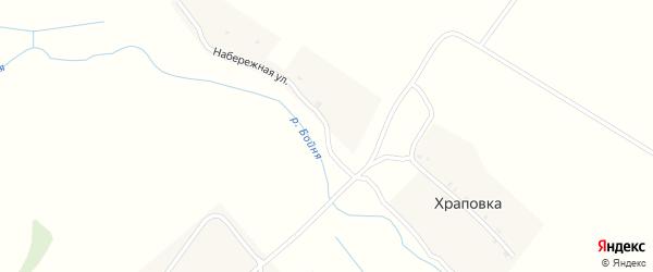 Набережная улица на карте деревни Храповки с номерами домов