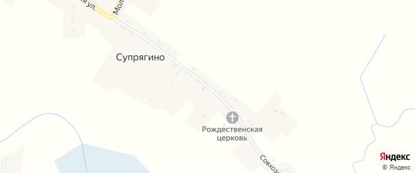 Совхозная улица на карте села Супрягино с номерами домов