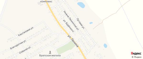 Улица Буденного на карте поселка Погара с номерами домов