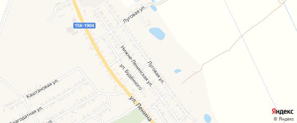 Луговая улица на карте поселка Погара с номерами домов