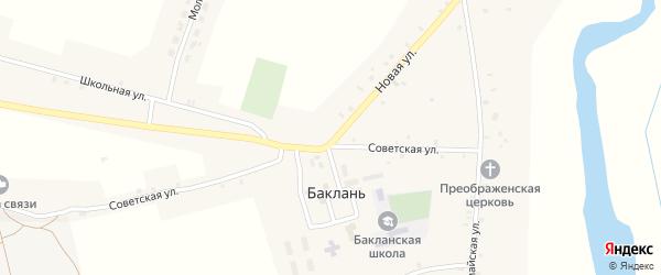 Садовый переулок на карте села Баклани с номерами домов