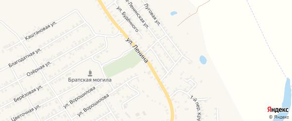 Улица Ленина на карте поселка Погара с номерами домов