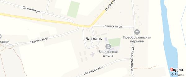 Проспект Ленина на карте села Баклани с номерами домов