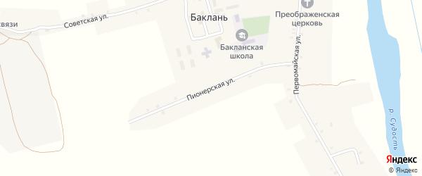 Пионерская улица на карте села Баклани с номерами домов