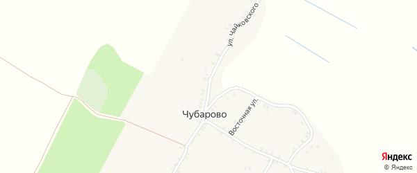 Улица Чайковского на карте деревни Чубарово с номерами домов