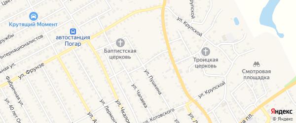 Улица Некрасова на карте поселка Погара с номерами домов