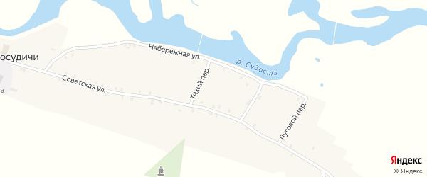 Центральный переулок на карте села Посудичи с номерами домов
