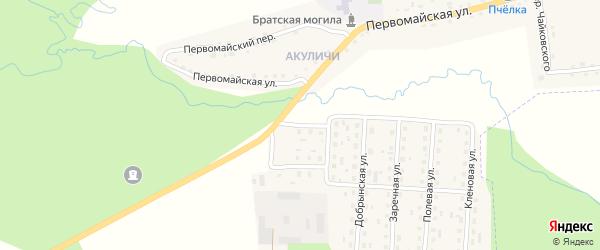 Светлая улица на карте поселка Клетня с номерами домов