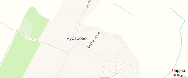 Восточная улица на карте деревни Чубарово с номерами домов