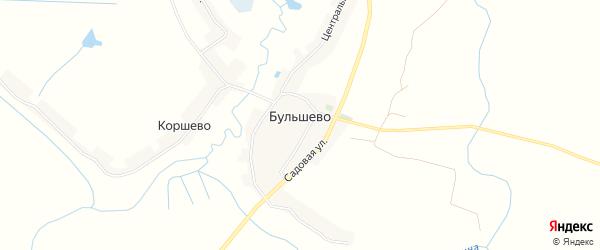 Карта деревни Бульшево в Брянской области с улицами и номерами домов