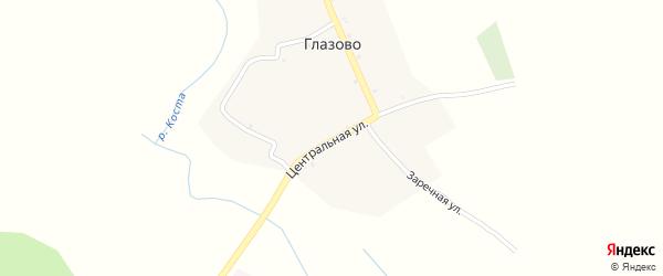Заречная улица на карте села Глазово с номерами домов