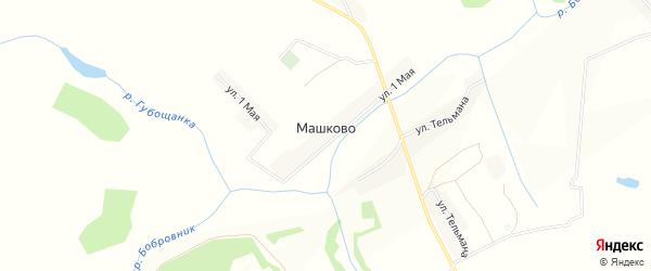 Карта деревни Машково в Брянской области с улицами и номерами домов