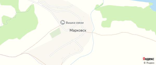 Новая улица на карте деревни Марковска с номерами домов