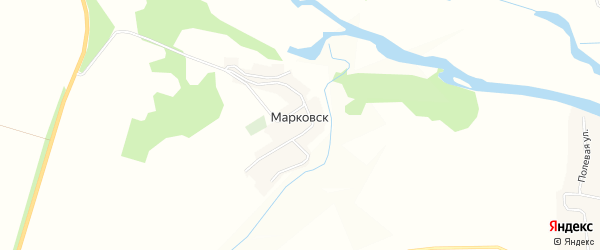 Карта деревни Марковска в Брянской области с улицами и номерами домов