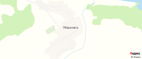 Горная улица на карте деревни Марковска с номерами домов