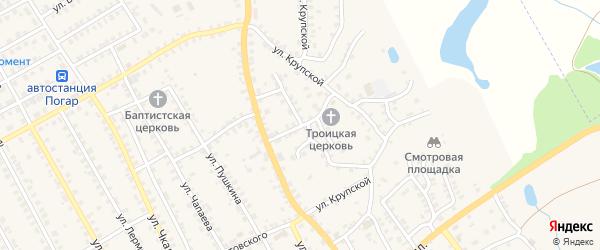 Улица Кирова на карте поселка Погара с номерами домов