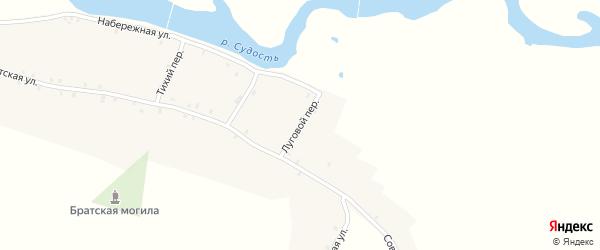 Луговой переулок на карте села Посудичи с номерами домов