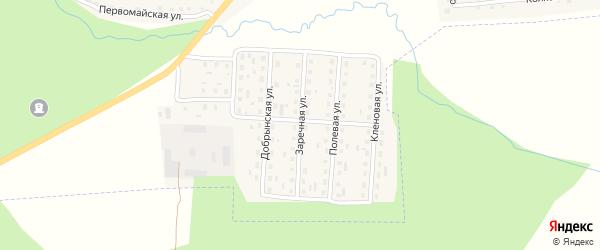 Заречная улица на карте поселка Клетня с номерами домов