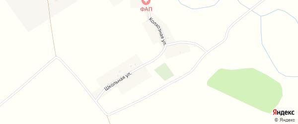 Школьная улица на карте деревни Сотниково с номерами домов